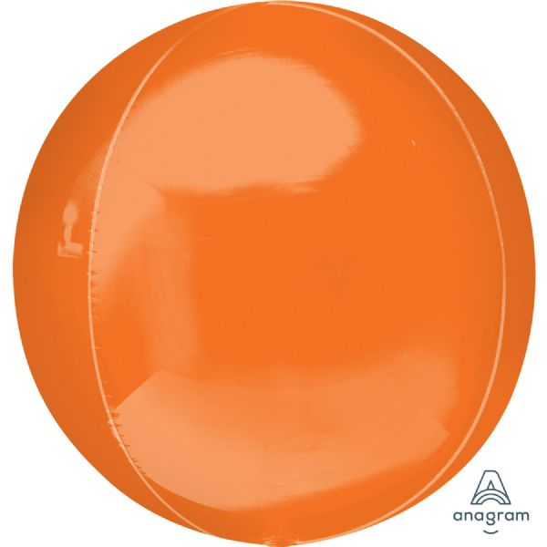 Orange Lilac Round Orbz 15in Balloon